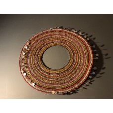 Vintage Masai beaded necklace from Tanzania