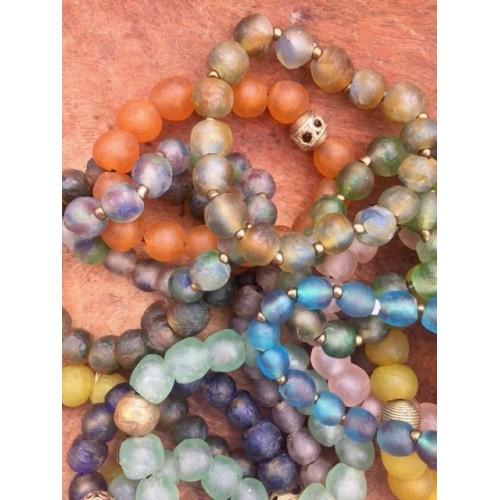 Ghana glass krobo bead bracelets