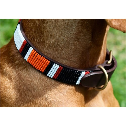 Beaded dog lead