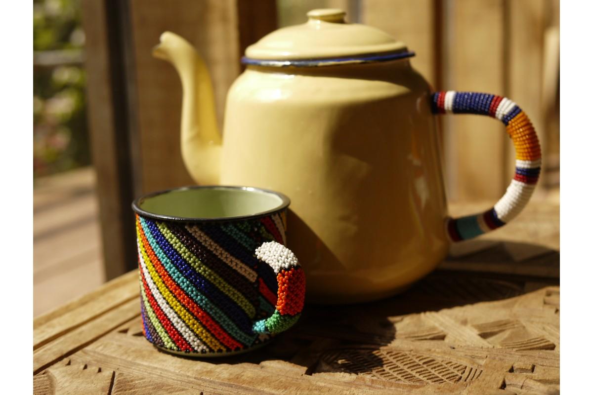Beaded teapot