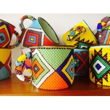 Zulu beaded mugs