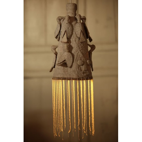 Beaded Yoruba crown lights