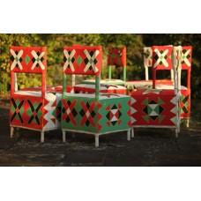 Yoruba Beaded Dining Chairs