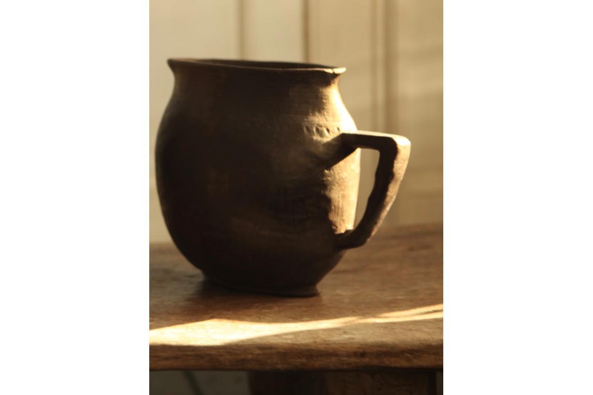 BaShi carved congo jug