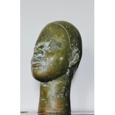 African Bronze head sculpture from Benin
