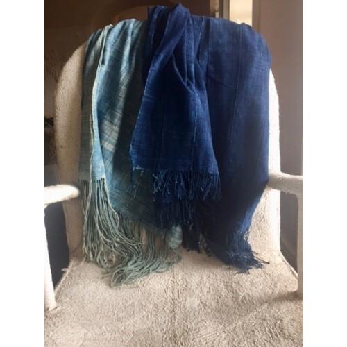 Vintage Mossi indigo shawl