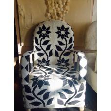 African Beaded Yoruba chairs - black and white