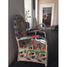 African Beaded Yoruba chairs PASTEL COLOURS