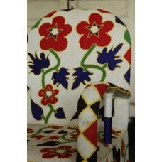 African Beaded Yoruba chairs