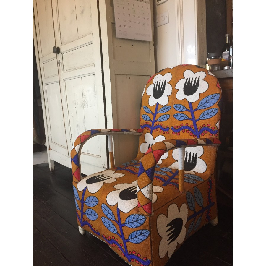 ... African Beaded Yoruba Chairs   Traditional Design