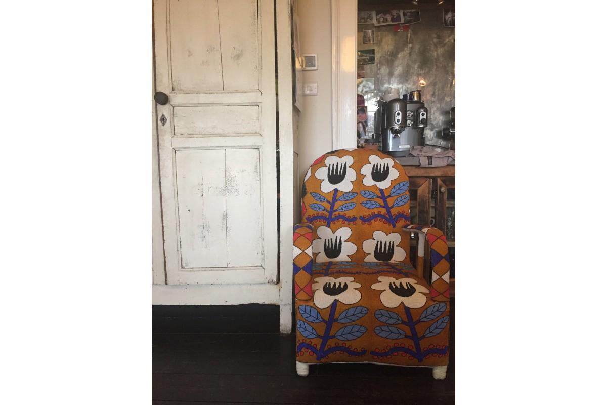 African Beaded Yoruba chairs - traditional design