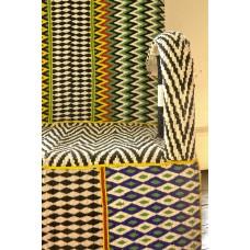African Beaded Yoruba chairs - zig zag